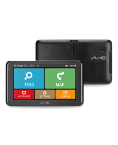 "Mio Truck navigation Spirit 8670 6.2"" touchscreen, Bluetooth, GPS (satellite), Traffic Message Channel (TMC), Maps included"