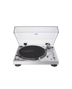 Audio Technica AT-LP120XUSB Turntable, Direct-Drive (Analog & USB), Silver Audio Technica