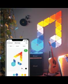 Nanoleaf Light Panels Rhythm Smarter Kit, 9 Panels