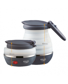 Adler Kettle AD 1279 Electric, 750 W, 0.6 L, Silicon, White