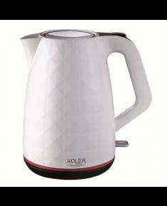 Adler Kettle AD 1277 Standard, Plastic, White, 2200 W, 360° rotational base, 1.7 L