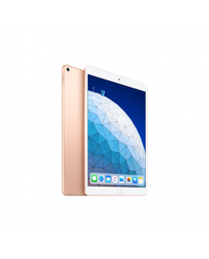 "Apple iPad Air 10.5 "", Gold, Retina display, 2224 x 1668 pixels, A12 Bionic chip with 64‑bit architecture; Neural Engine; Embedded M12 coprocessor, 64 GB, Wi-Fi, Front camera, 7 MP, Rear camera, 8 MP, Bluetooth, 5.0, iOS, 12"