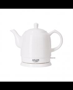 Adler Kettle AD 1280 Standard, Ceramic, White, 1500 W, 360° rotational base, 1.2 L