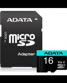 ADATA Premier Pro UHS-I U3 16 GB, Micro SDHC, Flash memory class 10, with adapter