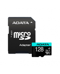 ADATA Premier Pro UHS-I U3 128 GB, micro SDXC, Flash memory class 10, with Adapter