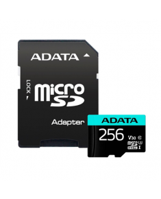 ADATA Premier Pro UHS-I U3 256 GB, micro SDXC, Flash memory class 10, with Adapter