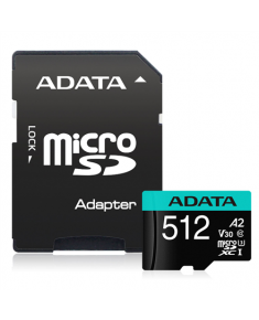ADATA Premier Pro UHS-I U3 512 GB, micro SDXC, Flash memory class 10, with Adapter