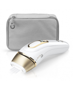 Braun Epilator PL5014 IPL Number of speeds 3 comfort modes Normal, gentle or extra gentle setting. Gentle and extra gentle setting reduce the energy level for beginners or treating sensitive areas., Number of intensity levels 10, Bulb lifetime (flashes) 400000, White/Gold