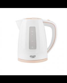 Adler Kettle AD 1264 Standard, 2200 W, 1.7 L, Plastic, White, 360° rotational base