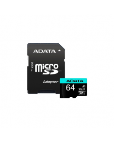 ADATA Premier Pro UHS-I U3 V30S 64 GB, MicroSDXC, Flash memory class 10, Adapter