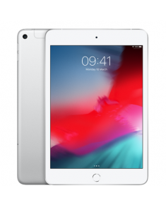 "Apple iPad Mini 7.9 "", Silver, Retina display, 2048x1536 pixels, A12 Bionic chip with 64‑bit architecture; Neural Engine; Embedded M12 coprocessor;, 256 GB, Wi-Fi, 4G, Front camera, 7 MP, Rear camera, 8 MP, Bluetooth, 5.0, iOS, 12"