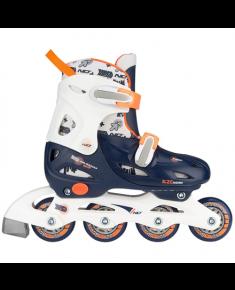 Skates NIJDAM 52SA 30-33 navy blue/white/orange
