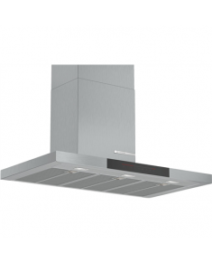 Bosch DWB97JP50 Hood, A, Wall mounted, Width 90 cm, Max extraction power 702 m³/h, TouchControl, Stainless steel Bosch Hood DWB97JP50 Energy efficiency class A, Wall mounted, Width 90 cm, 702 m³/h, DirectSelect, Stainless steel, LED
