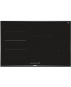 Bosch Hob PXE875BB1E Induction, Number of burners/cooking zones 4, Black, Display, Timer
