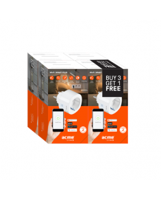 Acme Smart Wifi EU plug SH1101 Special 4pcs Bundle White