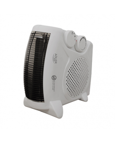 Adler Heater AD 77 Fan heater, Number of power levels 2, 1000 and 2000 W, Grey