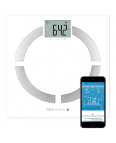 Medisana BS 444 Body Analysis Scale, Stainless Steel, Bluetooth