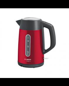 Bosch Kettle DesignLine TWK4P434 Electric, 2400 W, 1.7 L, Stainless steel, 360° rotational base, Red/Black