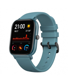 Amazfit Smart Watch GTS Steel Blue, 24/7, 220 mAh, Touchscreen, Bluetooth, Heart rate monitor, GPS (satellite), Waterproof