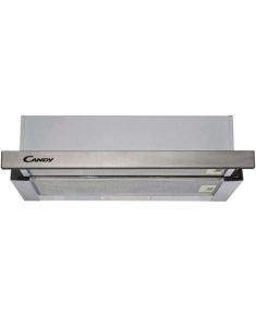 Candy Hood CBT625/2X Telescopic, Energy efficiency class B, Width 60 cm, 332 m³/h, Mechanical control, LED, Stainless steel