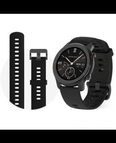 Amazfit GTR Smart watch, GPS (satellite), AMOLED, Touchscreen, Heart rate monitor, Activity monitoring 24/7, Waterproof, Bluetooth, Black