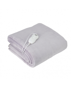 Adler Electric blanket AD 7425 Number of heating levels 4, Number of persons 1, Washable, Remote control, Coral fleece, 60 W, Grey
