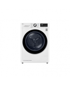 LG Dryer Machine RC90V9AV2Q Energy efficiency class A+++, Front loading, 9 kg, Heat pump, LED touch screen, Depth 69 cm, Wi-Fi, White