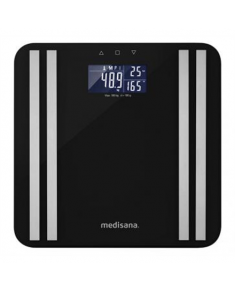 Medisana Body Analysis Scale BS 465 Memory function, Black, Body fat analysis, Body water percentage, Auto power off, Multiple users, Maximum weight (capacity) 180 kg