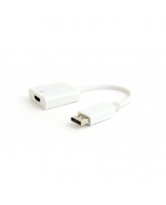 Cablexpert DisplayPort v.1.2 to HDMI adapter cable, White