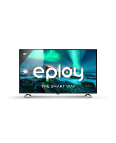 """Allview 32ePlay6100-H 32"""", Smart TV, Android 9.0 TV, HD, 1366 x 768 pixels, Wi-Fi, DVB-T/T2/C/S/S2, Black/Silver"""
