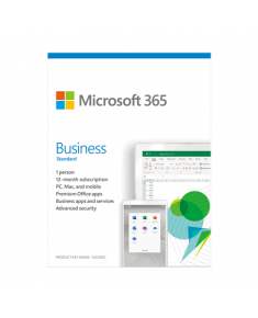 Microsoft 365 Business Standard KLQ-00475 License term 1 year(s), Russian, Medialess, P6