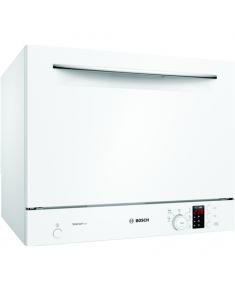 Bosch Dishwasher SKS62E32EU Free standing, Width 55 cm, Number of place settings 6, Number of programs 6, Energy efficiency class F, Display, AquaStop function, White