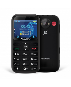 "Allview D2 Senior Black, 2.31 "", TFT, 240 x 320 pixels, Dual SIM, Bluetooth, 3.0, Built-in camera, Main camera 1.3 MP, 1400 mAh"