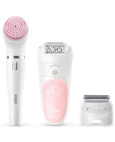 Braun Epilator Silk-épil Beauty Set 5-885 BS Operating time (max) 30 min, Number of power levels 2, Wet & Dry, White/Pink
