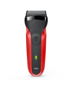 Braun Shaver 300TS Cordless, Charging time 60 h, Operating time 20 min, NiMH, Number of shaver heads/blades 3, Red/Black