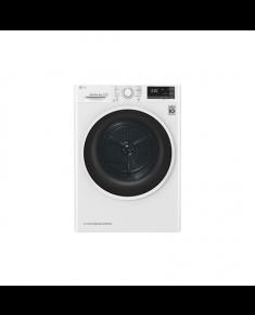 LG Dryer Machine RC80U2AV4Q Energy efficiency class A+++, Front loading, 8 kg, Heat pump, LED touch screen, Depth 69 cm, Wi-Fi, White