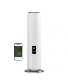 Duux Beam Smart Humidifier DXHU05 27 W, Water tank capacity 5 L, Ultrasonic, Humidification capacity 350 ml/hr, White, 40 m³
