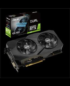 Asus DUAL-RTX2060-O6G-EVO NVIDIA, 6 GB, GeForce RTX 2060, GDDR6, PCI Express 3.0, Processor frequency 1695 MHz, DVI-D ports quantity 1, HDMI ports quantity 2, Memory clock speed 14000 MHz