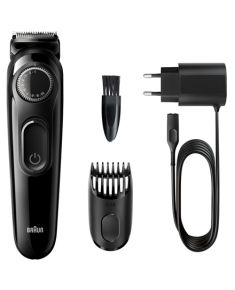Braun Beard trimmer BT3222 Cordless, Number of length steps 20, Black