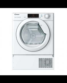 Candy Dryer Machine CBTD 7A1TE-S/ Energy efficiency class A+, Front loading, 7 kg, Heat pump, Big Digit, Depth 46.5 cm, NFC, White, Built-in