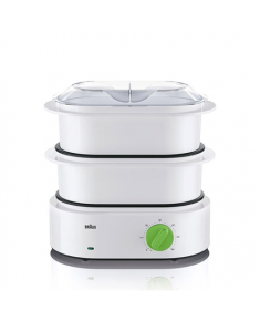Braun Food steamer FS 3000 White, 850 W, Capacity 8.2 L, Number of baskets 3