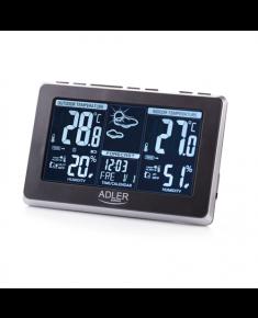 Adler Weather station AD 1175 Black, White Digital Display, Remote Sensor included