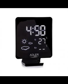 Adler Weather station AD 1176 Black, White Digital Display, Remote Sensor included