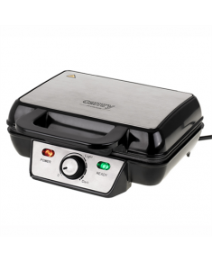Camry Waffle Maker CR 3046 1600 W, Number of pastry 2, Belgium, Black/Stainless Steel