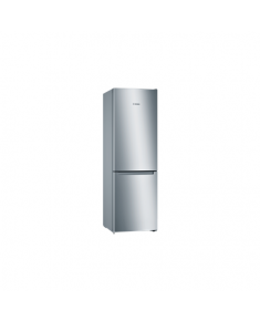 Bosch Serie 2 Refrigerator KGN33NLEB Energy efficiency class E, Free standing, Combi, Height 176 cm, No Frost system, Fridge net capacity 193 L, Freezer net capacity 89 L, 42 dB, Stainless steel