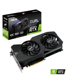 Asus DUAL-RTX3060TI-O8G NVIDIA, 8 GB, GeForce RTX 3060 TI, GDDR6, PCI Express 4.0, Cooling type 2x Fans, Processor frequency 1740 MHz, HDMI ports quantity 2, Memory clock speed 14000 MHz