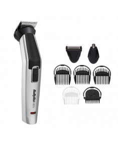 BABYLISS 8in1 Hair Trimmer MT726E Titanium Cordless, Black/Silver