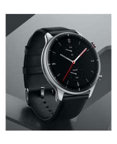 Amazfit GTR 2 Classic Edition Smart watch, GPS (satellite), AMOLED, Touchscreen, Heart rate monitor, Activity monitoring 24/7, Waterproof, Bluetooth, Stainless Steel, Obsidian Black, Wi-Fi