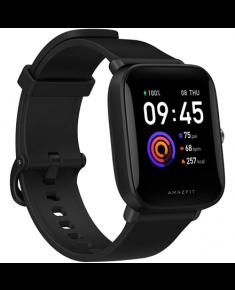 Amazfit Bip U Smart watch, GPS (satellite), Reflective Color Display Screen, Touchscreen, Heart rate monitor, Waterproof, Bluetooth, Polycarbonate, Onyx Black