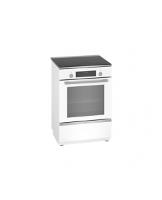Bosch Cooker HLT59E020U Integrated timer, Hob type Induction, Oven type Electric, White, Width 60 cm, Electronic ignition, Grilling, LCD, 66 L, Depth 60 cm